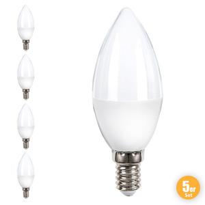 I-Glow LED Leuchtmittel Kerze - 5er Set