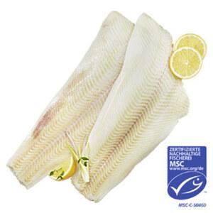 Filet vom Schwarzen Heilbutt aus MSC zertifiziertem Wildfang, praktisch grätenfrei, ohne Haut, handfiletiert, getaut, je 100 g