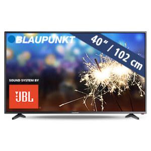 BLA-40/138O • FullHD-TV • 3 x HDMI, 2 x USB,  CI+ • geeignet für Kabel-, Sat- und DVB-T2-Empfang • Maße: H 54,2 x B 92,1 x T 8,4 cm • Energie-Effizienz A+ (Spektrum A++ bis E)