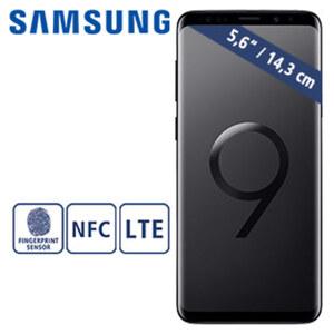 Smartphone Galaxy S9 G960F · Frontkamera (8 MP) · Rückkamera (12 MP) · 4-GB-RAM, 64-GB-interner Speicher · Hybrid-Slot für eine zweite nanoSIM oder eine microSD™-Karte bis zu 400-GB · Androi