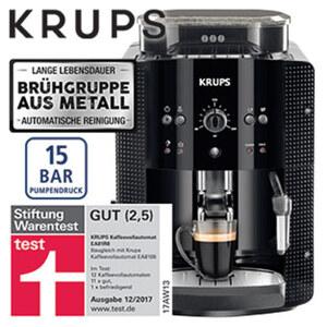 Kaffeevollautomat EA81R8 Arabica · Express-Edelstahl-Kegelmahlwerk · Tamping-System: 30 kg Anpressdruck · patentierter Edelstahl-Thermoblock · Autoclean-System