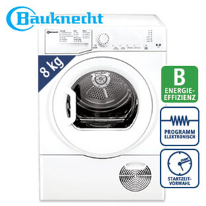 Kondenstrockner TKY 8B L · 15 Programme inkl. Anti-Allergie-Programm · große Türöffnung für bequemes Be- und Entladen · Knitterschutz · Maße: H 85,0 x B 59,5 x T 61,0 cm · Energie-Effizienz