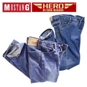 Herren-Jeans Mustang oder Hero by John Medoox versch. Modelle, Waschungen und Größen