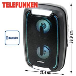 Bluetooth®-PartyLautsprecher BS1023 • LED-Display, FM-Radio • USB-/3,5-mm-KlinkenAnschluss • Mikrofon-Anschluss • integr. Akku