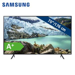 UE70RU7099 • 3 x HDMI, 2 x USB, CI+ • geeignet für Kabel-, Sat- und DVB-T2-Empfang • Energie-Effizienz A+ (Spektrum A++ bis E)