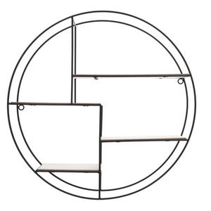 Regal rund aus Metall in Schwarz mit 4 Böden 45 cm Durchmesser