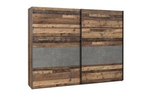 HARDi - Schwebetürenschrank Cliff Binou in Old Wood-Optik