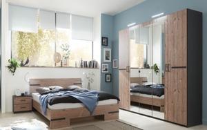 HARDi - Schlafzimmer Anna 2 in graphit/silver fir Optik