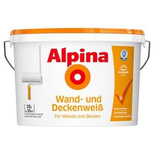 Alpina Wand- und Deckenweiß 10 Liter ca. 55m²