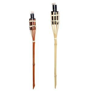 Leuchtfackel aus Bambus 57 oder 117 cm mit Sicherheitskappe