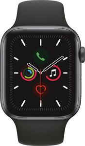 Apple Watch Series 5 GPS, 44mm Alu schwarzes Armband