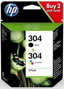 HP Original Tintenpatrone - HP 304 Multipack schwarz + Farbe, 2er Pack