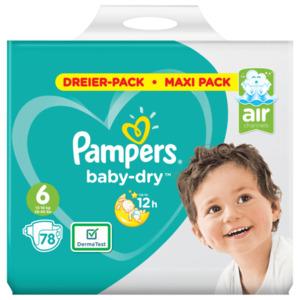 Pampers Baby Dry Gr. 6 XL 78 Stk.