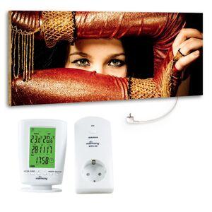"""Marmony 800W Infrarot-Heizung Motiv """"Arabic Eyes"""" mit Thermostat MTC-40"""