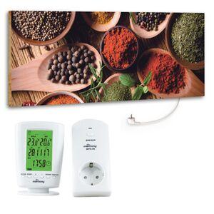 """Marmony 800W Infrarot-Heizung Motiv """"Spice"""" mit Thermostat MTC-40"""