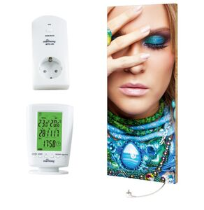 "Marmony 800W Infrarot-Heizung Motiv ""Beauty"" mit Thermostat MTC-40"