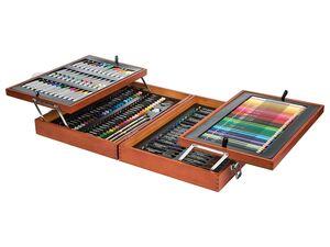 CRELANDO® Malkoffer mit Farben