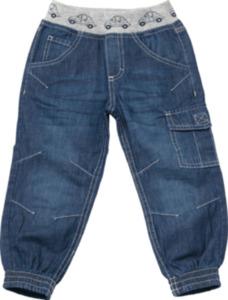 ALANA Kinder Jeans, Gr. 104, in Bio-Baumwolle, blau, Autos
