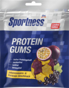 Sportness Protein Gums, Maracuja & Johannisbeere-Geschmack