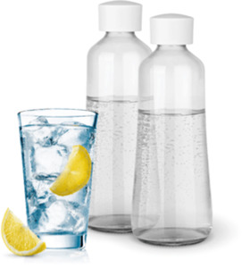 Soda Trend Ersatz-Set mit 2 Glas-Flaschen (je 720 ml)