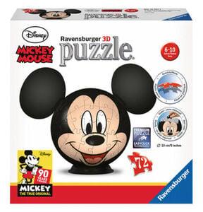 Ravensburger 3D-Puzzleball Mickey Mouse mit Ohren, 72 Teile