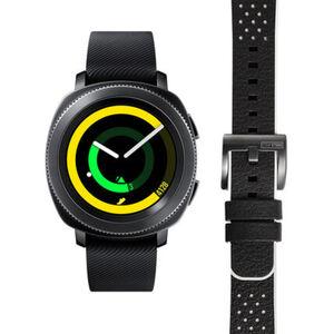 """Samsung Hybrid Smartwatch Gear Sport Black """"40-34-9579"""" mit zusätzlichem Armband"""