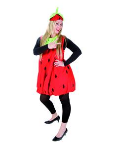Damen Erdbeer Kostüm