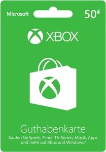 Xbox Live 50 Euro Guthabenkarte
