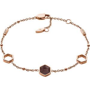 """Fossil Damen Armband """"JF03061791"""", Edelstahl, roségold, keine Angabe"""