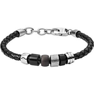 "Fossil Herren Armband ""JF03111998"", Leder, schwarz, keine Angabe"