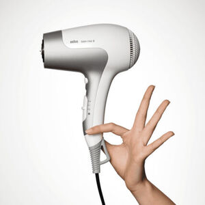 Braun Haartrockner Satin Hair 5 HD580 PowerPerfection, weiß/silber, ws