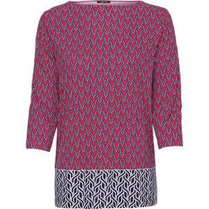 Olsen Shirt, 3/4-Arm, graphischer Print, für Damen