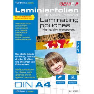 Genie Laminiertaschen, Dokumente + Fotos A4, 100er-Pack