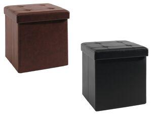 LIVARNO LIVING® Sitzhocker, mit Stauraum, abnehmbarer Sitzauflage, in Leder-Optik, klappbar