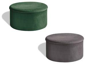 LIVARNO LIVING® Sitzhocker, mit Stauraum, Samtbezug, abnehmbarer Sitzfläche, faltbar