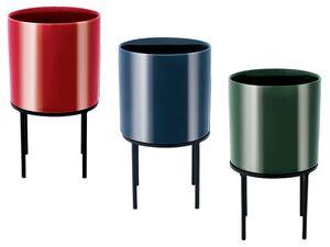 MELINERA® Keramikübertopf mit Metallständer