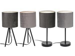 LIVARNO LUX® Tischleuchte, mit Velour-Bezug, inklusive energiesparendem LED-Leuchtmittel