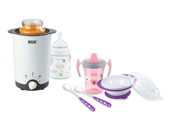 NUK NUK Flaschenwärmer Thermo Express 3 in 1 und Esslern-Set rosa