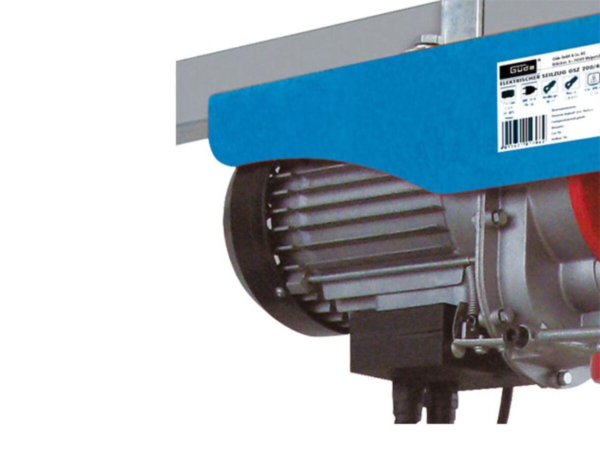 Bild 2 von Güde Elektrischer Seilzug, bis 600 kg Hubkraft, 12 m Seillänge, 1050 Watt Leistung