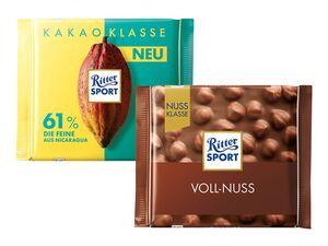 Ritter Sport Kakao Klasse/Nuss Klasse