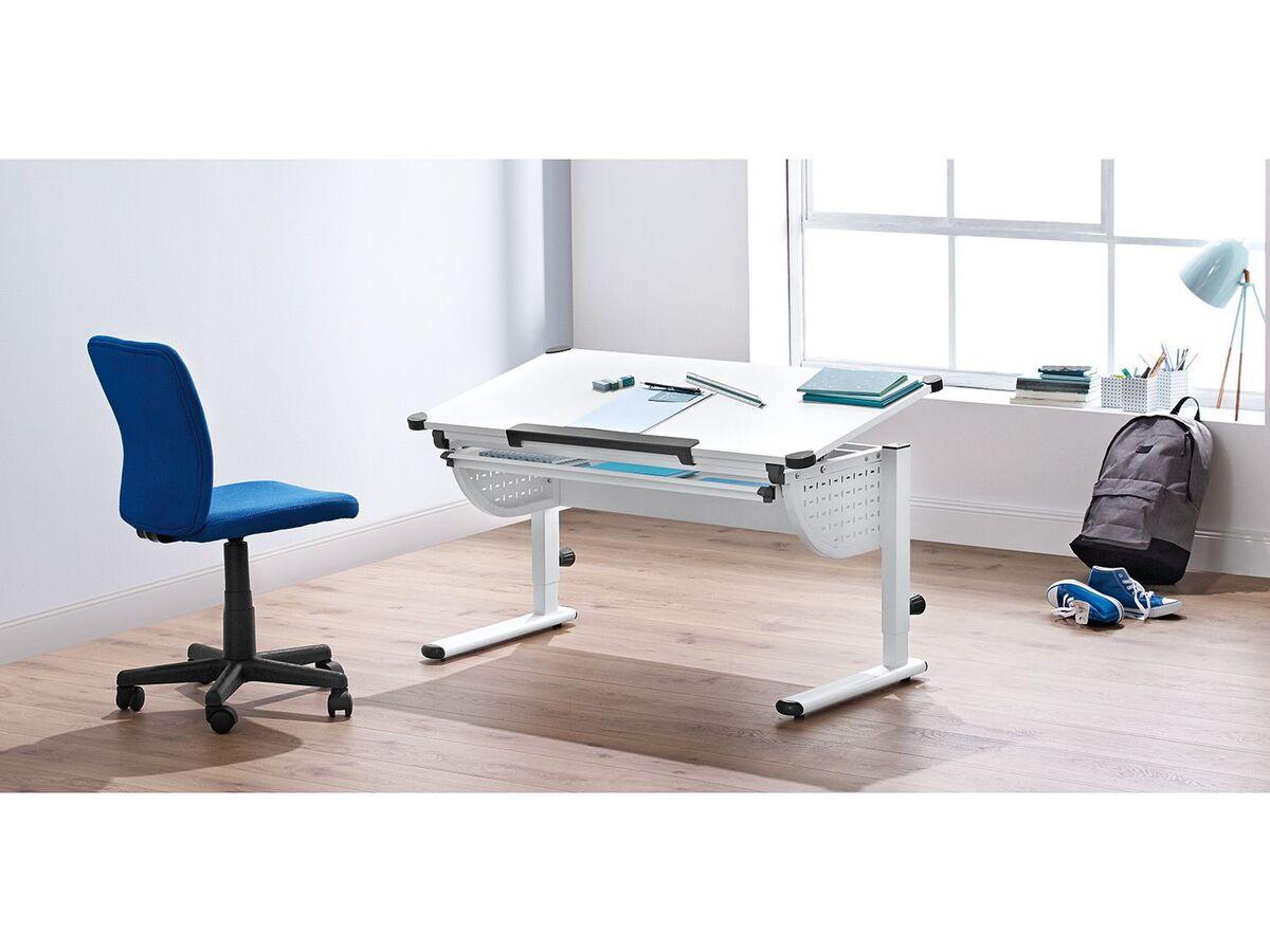 Bild 4 von LIVARNO LIVING® Kinderschreibtisch, ergonomisch, praktisches Lineal, Ecken mit Schutzkappen