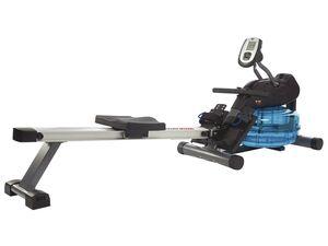 body coach Rudergerät, mit Wasser-Bremssystem und Herzfrequenzmessung, klappbar
