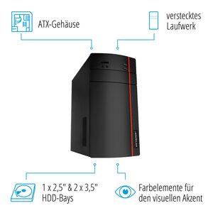 MEDION ERAZER® P37001, AMD Ryzen™ 5 2400G, Windows10Home, RX 460, 256 GB SSD, 1 TB HDD, 16 GB RAM, Core Gaming PC