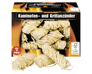 Kaminofen und Grillanzünder