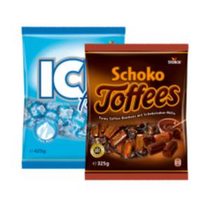 Storck Schoko Toffees, Karamell, Kalifornia Früchte, Kau Früchtchen,