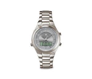 Herren-Edelstahl-Funk-Armbanduhr