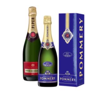Champagner Pommery Brut Royal oder Piper Heidsieck