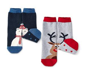 2 Paar Socken mit Antirutsch-Noppen