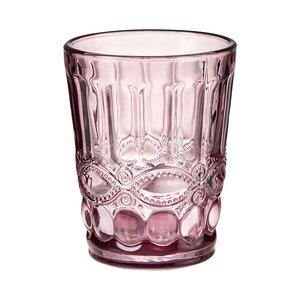 6x Trinkglas 240 ml rosa