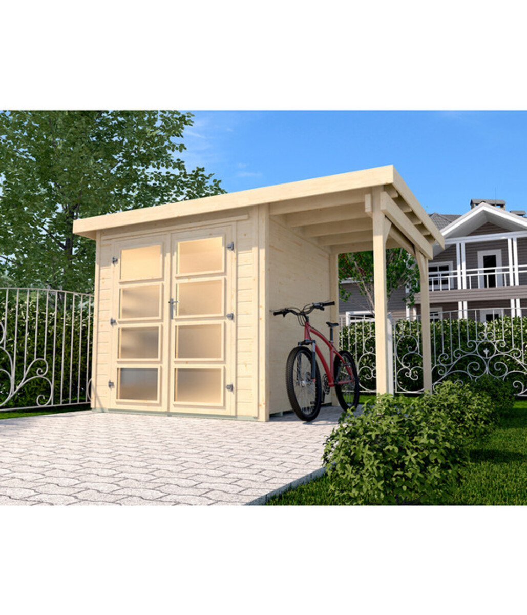 Bild 1 von Weka Gartenhaus 321 + 115 cm Anbau